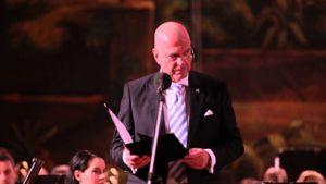 Giorgio Perlasca tiszteletére rendezett koncert Ilan Mor izraeli nagykövet beszéde